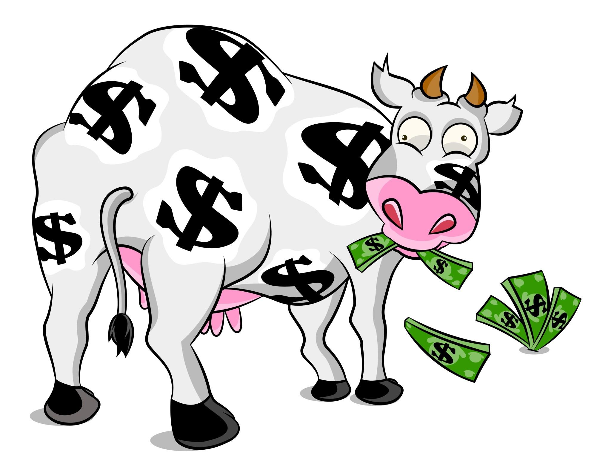 Денежная корова картинка
