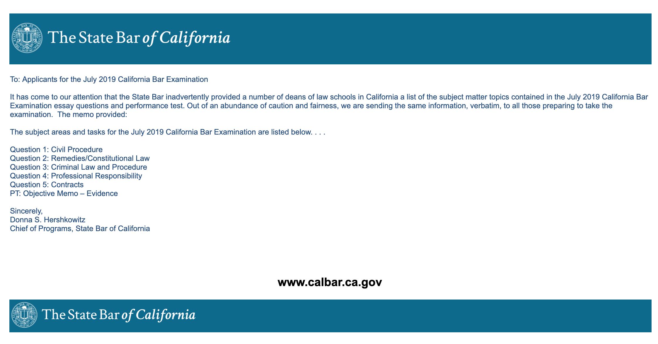 California Bar Essays Leaked | Imageletter co