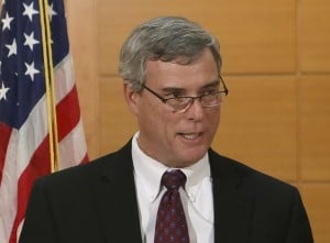 St. Louis County Prosecutor Bob McCulloch announces the grand jury's decision not to indict Ferguson police officer Darren Wilson in Clayton Missouri
