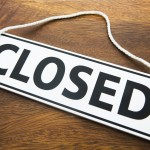 Shop Closed Sign On Wooden Background