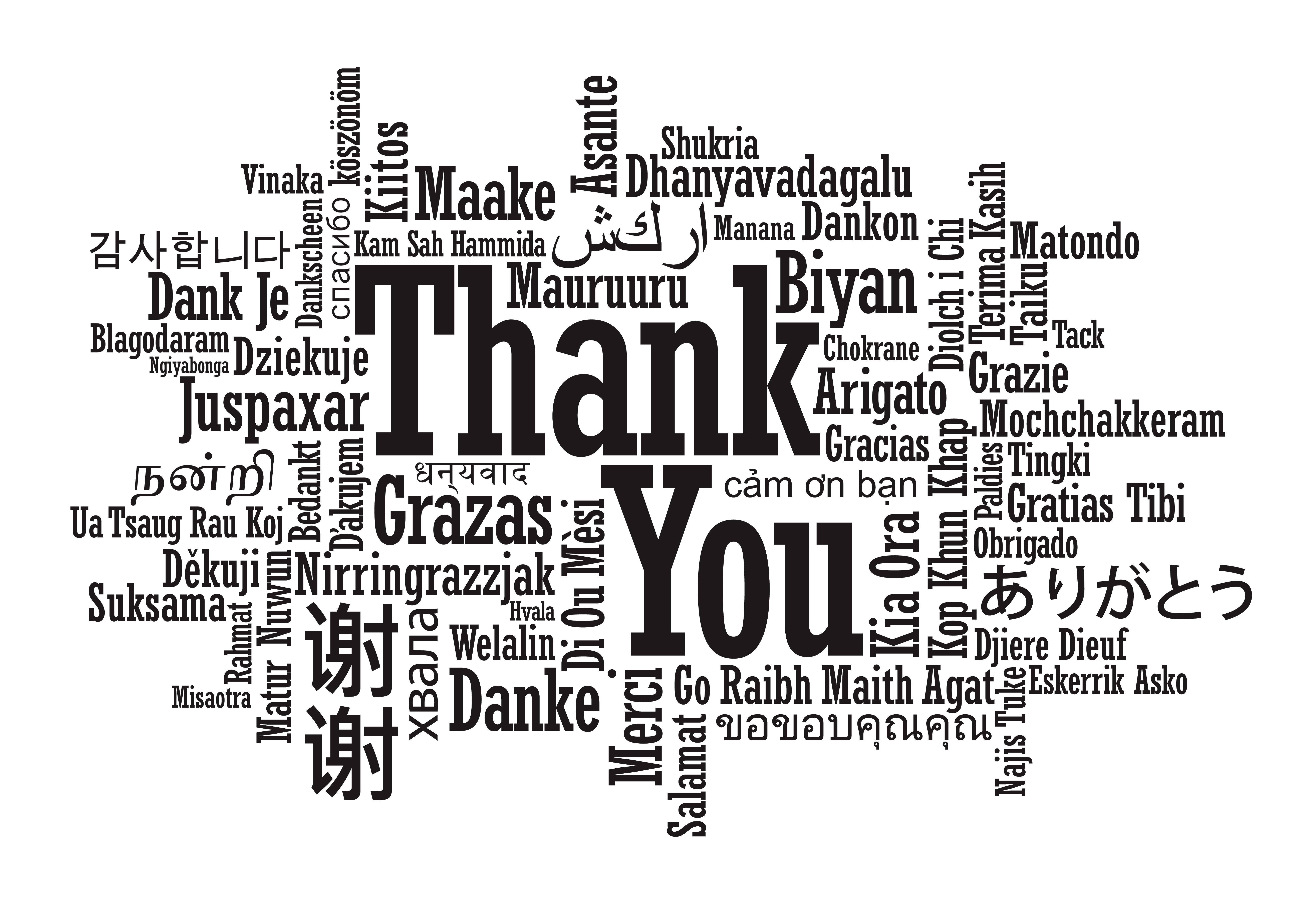 word of thanks Words for thank you notes should show your appreciation here are some examples of words to include.