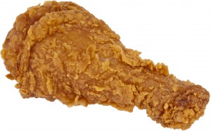This fried chicken is from Popeye's, but you get the point.