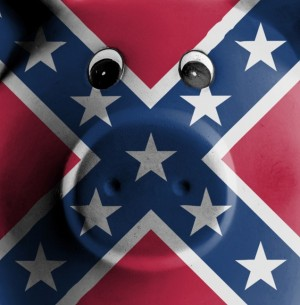 Confederate Flag googly eyes