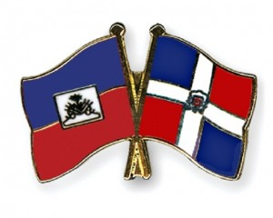 Haiti DR flags crossed