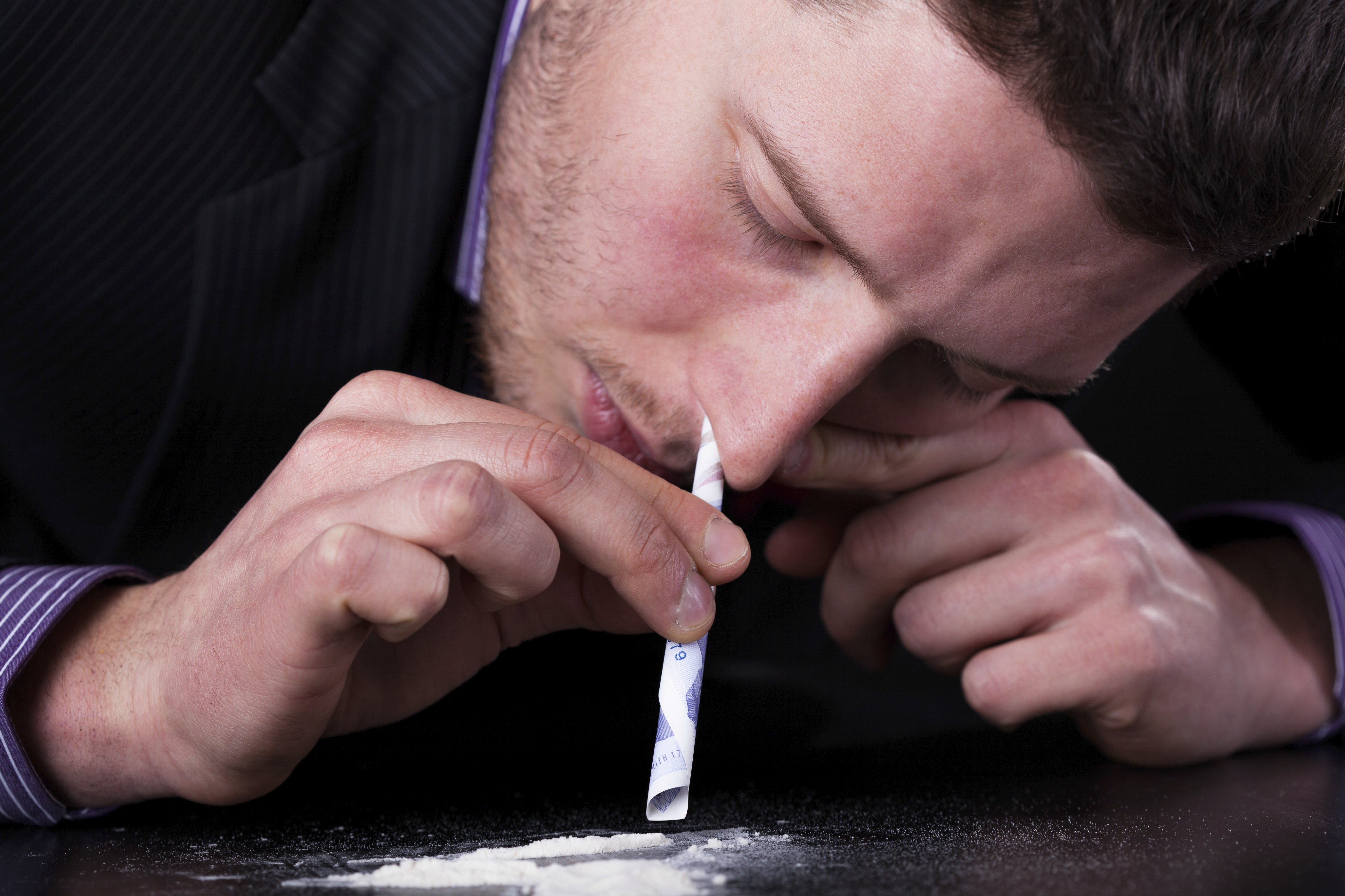 Businessman addicted to drugs