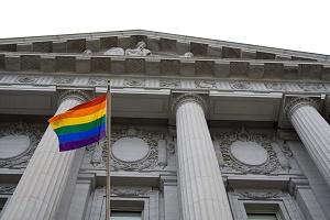 rainbow flag court