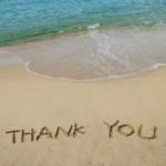 thank you beach sand