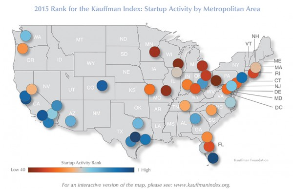 Lateral Link Legal Recruiters Startup Activity by Metro Area