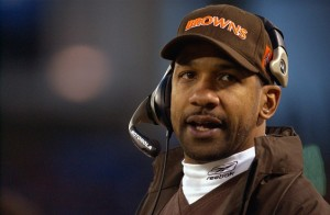 BALTIMORE - DECEMBER 22:  Running backs coach Todd McNair of the Cleveland Browns looks on against the Baltimore Ravens at Ravens Stadium on December 22, 2002 in Baltimore, Maryland. The Browns defeated the Ravens 14-13. (Photo by Doug Pensinger/Getty Images)