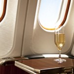 first class champagne business class airplane plane