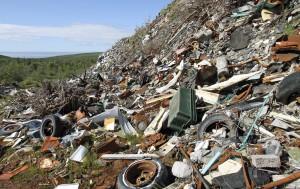 garbage dump trash heap junk pile