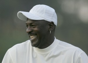 Michael Jordan, laughing off the fact that millennials don't know who he is.  (Photo by Scott Halleran/Getty Images)