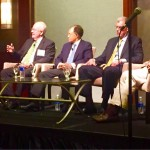 Yesterday's panel of four U.S. Solicitors General (photo via Justice Don Willett's Twitter feed).