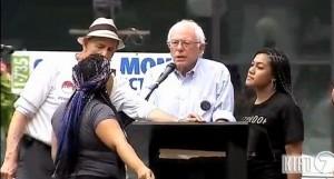 Sanders blacklivesmatter
