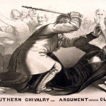 Preston Brooks caning Charles Sumner on the Senate floor in 1856