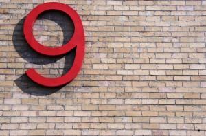number 9 nine