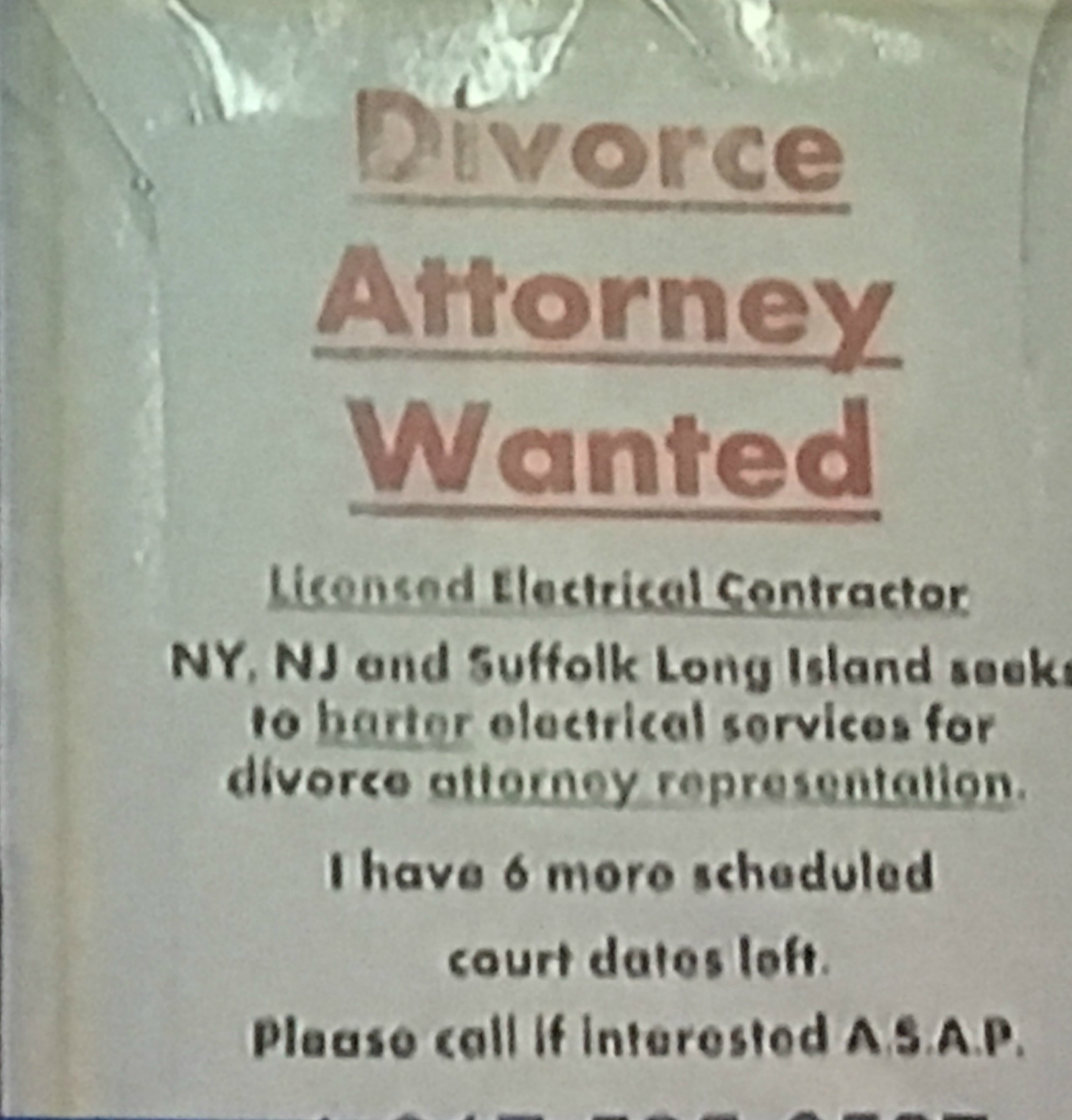 Attorney Wanted  Old Fashioned Wanted Poster