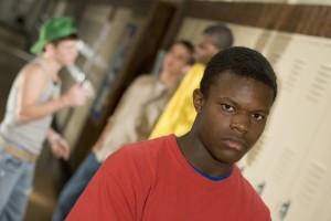 Black child sad