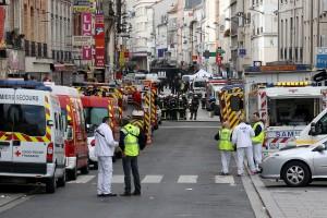 <> on November 18, 2015 in Saint-Denis, France.