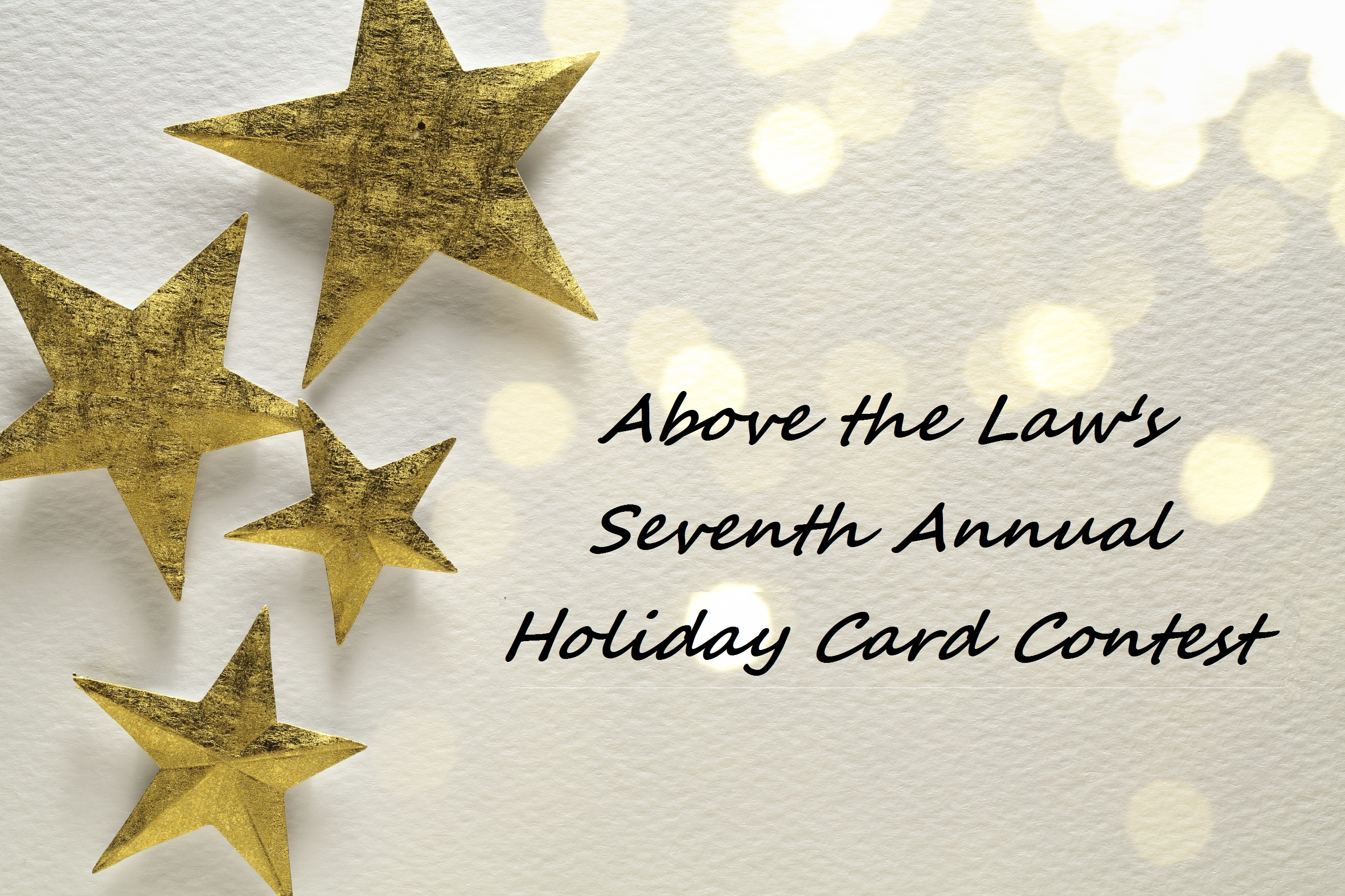 Above The Law's 7th Annual Holiday Card Contest