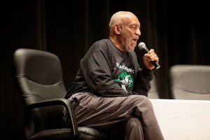 SELMA, AL - MAY 15:  Bill Cosby speaks to students at Selma High School as part of the Black Belt Community Foundation's March for Education on May 15, 2015 in Selma, Alabama.  (Photo by David A. Smith/Getty Images)