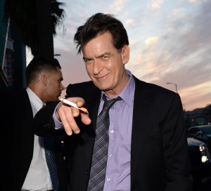 HOLLYWOOD, CA - APRIL 11:  Actor Charlie Sheen arrives at the Dimension Films' 'Scary Movie 5' premiere at the ArcLight Cinemas Cinerama Dome on April 11, 2013 in Hollywood, California.  (Photo by Jason Merritt/Getty Images)