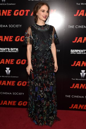 Natalie Portman attends the New York premiere of 'Jane Got A Gun'  (Photo by Jamie McCarthy/Getty Images)