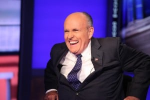 We think four years of law school is hilarious too, Rudy!  (Photo by Rob Kim/Getty Images)