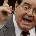 Antonin Scalia finger raised LF