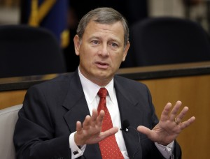 Chief Justice Roberts would like you to simmer down. (Nati Harnik/AP)