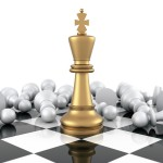 king chess pawns crown