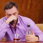 sad drinking