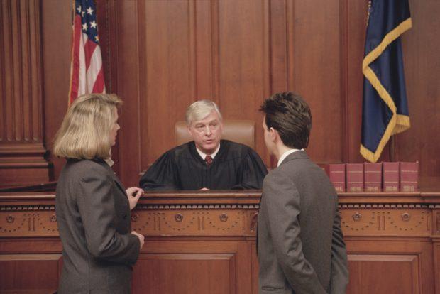 lawyer litigator judge courtroom motion argument