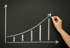 grow growth growing chart graph blackboard chalkboar