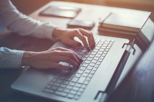 writing typing blogging keyboard