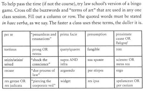 Attention 1ls this is law school bingo and it will save your life attention 1ls this is law school bingo and it will save your life above the law maxwellsz