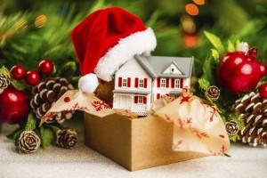 christmas present house