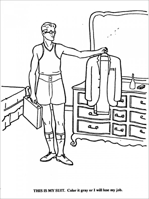 lawyer coloring pages - photo#9