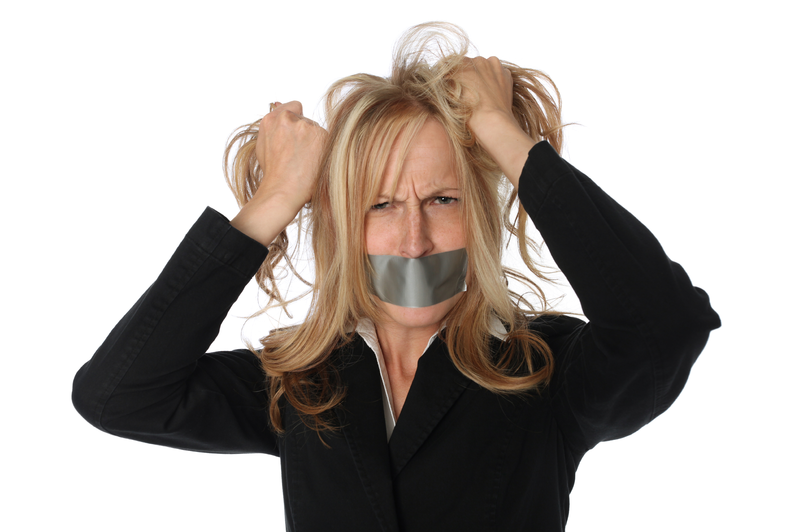 lawyer tape over mouth