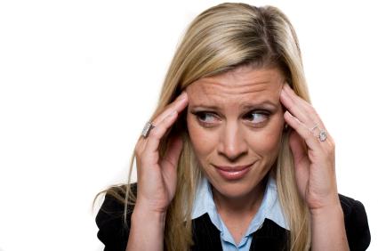 Businesswomen under stress